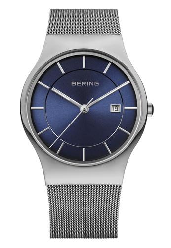 Bering silver Classic 11938-003 Blue 40 mm Men's Watch 5072AAC939CF4FGS_1