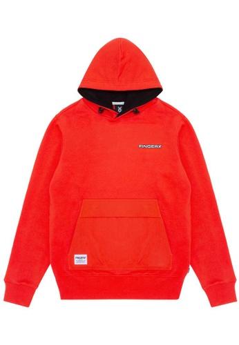 Fingercroxx orange Logo badge hoodie AE82CAA7E47D6AGS_1