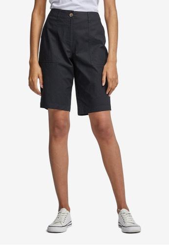 Dorothy Perkins black Black Poplin Knee Shorts 48259AADB1059DGS_1