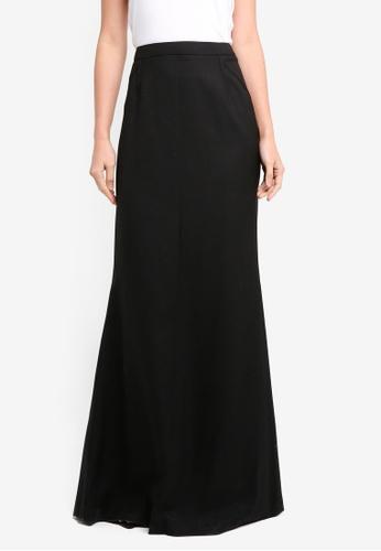 Mango black Pleat Detail Long Skirt MA193AA0T0XOMY_1