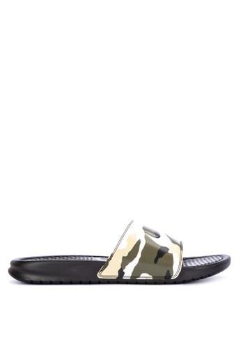 """Nike multi Benassi """"Just Do It."""" Print Sandal 00CD1SHB249857GS_1"""