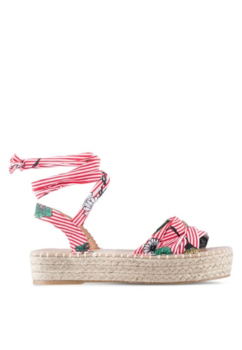 Something Borrowed red Striped Ribbon Espadrille Sandals 6EB3DSHA1147EFGS_1