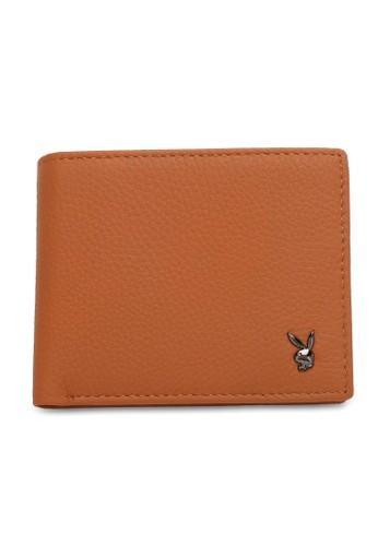 Playboy brown Genuine Leather Rfid Short Wallet 1B2FAACA73DEE2GS_1