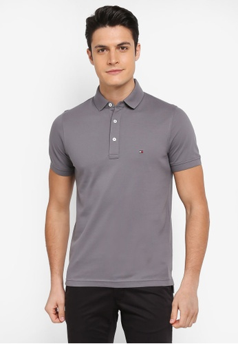 1e5e7109d17c3 Tommy Hilfiger grey TOMMY SLIM POLO 238C0AAEC7F9BDGS 1