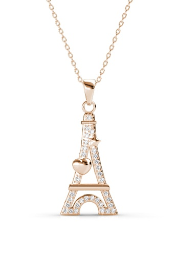 Her Jewellery Paris Love Pendant (Rose Gold) - Made with premium grade crystals from Austria HE210AC0FSR0SG_1