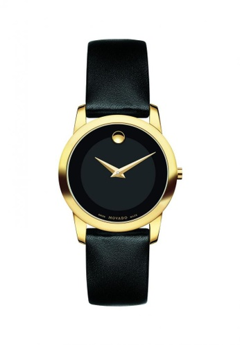 movado black and gold Movado  Museum Ladies Classic Watch 38F16AC1284841GS_1