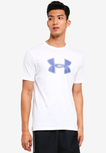 Under Armour white UA Big Logo Short Sleeve Tee 481F9AA282888FGS_1