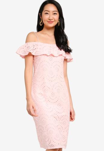 ZALORA BASICS pink Cold Shoulder Dress 53C15AAC0700C7GS_1