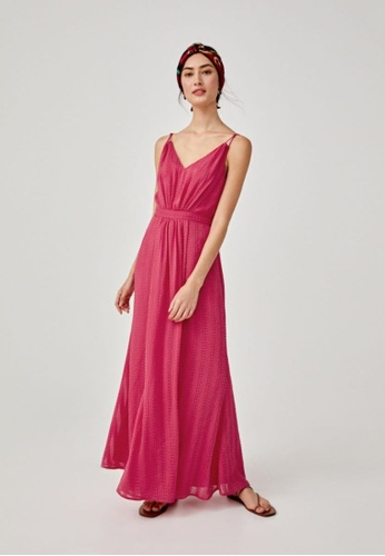 Love, Bonito pink Allie Textured Camisole Maxi Dress 83598AADAE1D66GS_1