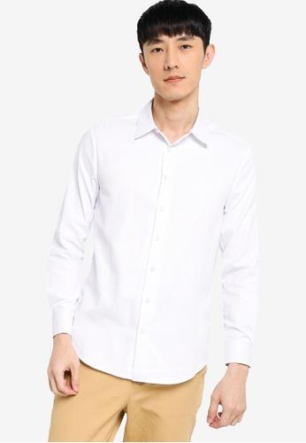 ZALORA BASICS white Slim Fit Button Up Shirt F9776AA60B66A0GS_1