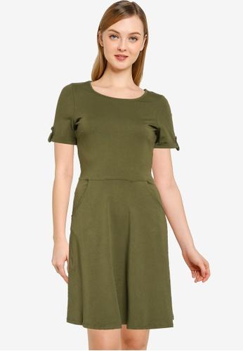 Dorothy Perkins brown Plain Khaki T-Shirt Dress 02089AA73B82A3GS_1