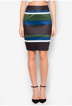 Collection Printed Pencil Skirt