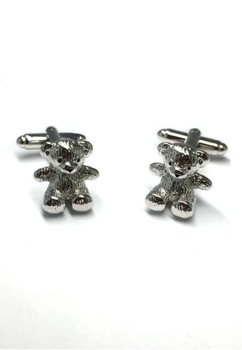 Splice Cufflinks Silver Teddy Bear Cubs Cufflinks SP744AC54ESVSG_1