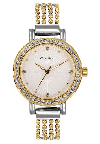 Christ Verra gold and silver Fashion Women's Watches CV 71019L-13 SLV A630BAC1FB1373GS_1