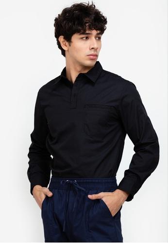 ZALORA BASICS black Pull-On Shirt C566AAA448857EGS_1
