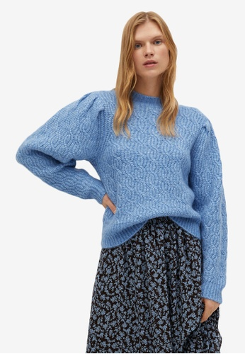 Mango blue Knitted Braided Sweater 41FE7AAA535484GS_1