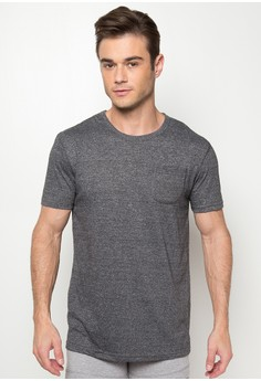 Round Neck with Pocket
