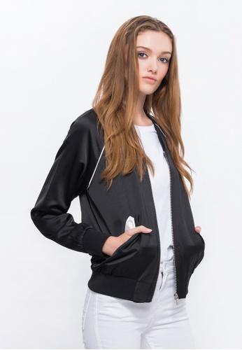 Alpha Style black Chloe Low Neck Bomber Jacket AL461AA0FVCOSG_1