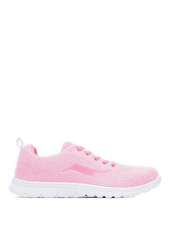 Life8 pink Lightweight Knit Fabric Sport Shoes With Brand Logo-09619-Pink LI286SH0RLZCMY_1