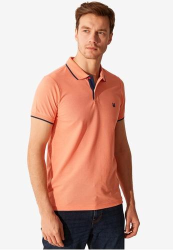 LC Waikiki orange Short Sleeve Pique Polo Shirt 0A99DAA142BD5DGS_1