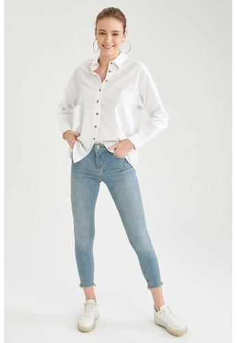 DeFacto blue Woman Denim Trouser AE29FAA49162BDGS_1