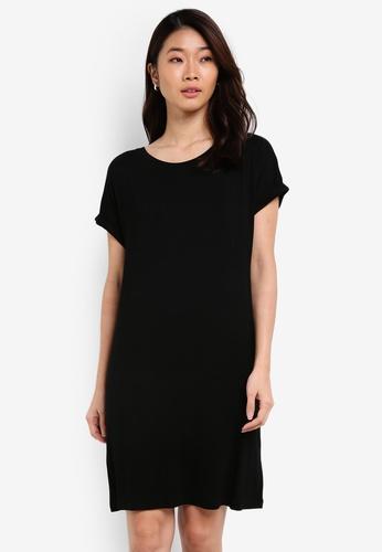 ZALORA black Basic Crew Neck T-shirt Dress 94174ZZ0DFB9A6GS_1
