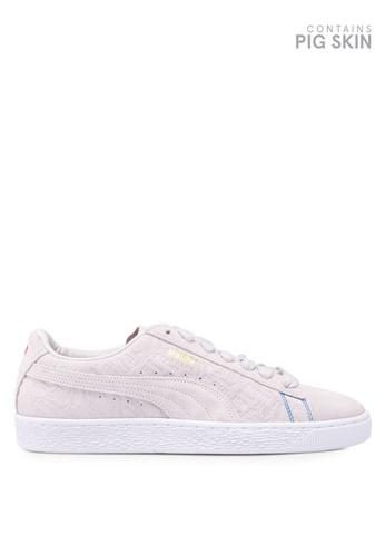 Puma Select grey Suede Classic Seoul Shoes EBC37SH32CEE1AGS_1