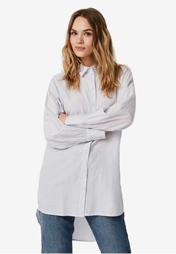 Vero Moda blue Long Shirt BE133AA03C53A9GS_1