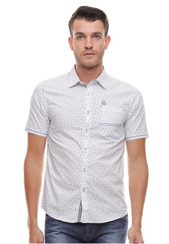 Johnwin grey Johnwin - Slim Fit - Kemeja Casual Active - Model Polkadot - Putih 95DABAA2118FA8GS_1