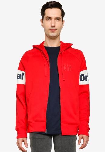 GAP 紅色 Original Full Zip Hoodie 990B7AA7F7AF90GS_1