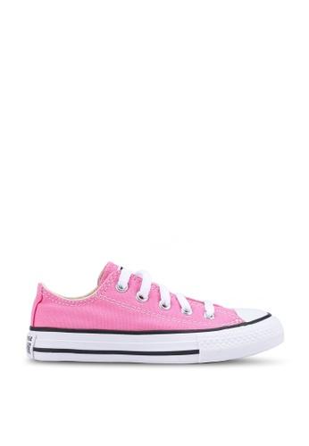 Converse 粉紅色 Chuck Taylor All Star Ox Sneakers D3782KS2812F2FGS_1