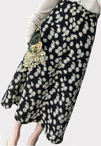 Twenty Eight Shoes black VANSA Floral One-piece Skirt VCW-Sk8.F F5023AA35DEEF9GS_1