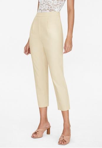 Pomelo beige Front Pleated Pants - Beige 08C38AAEC0E10DGS_1