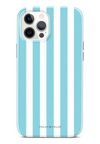 Polar Polar blue Baby Blue Stripe Dual-Layer Tough Case Glossy For iPhone 12 Pro Max 7C63DAC7EBBBFAGS_1