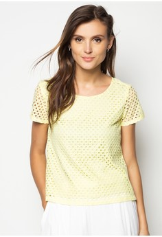 Lace Boxy Short Sleeves Top