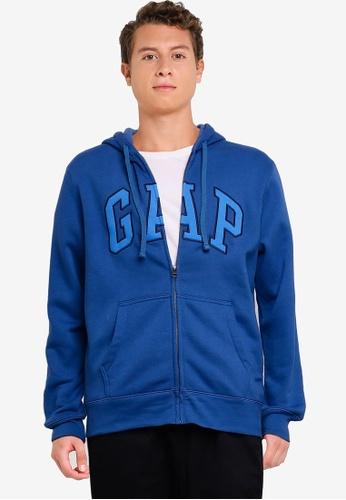 GAP blue Brand Logo Hoodie 0F978AA4D1EBB5GS_1