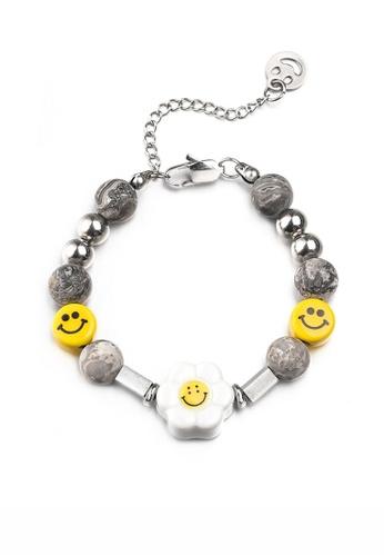 HAPPY FRIDAYS Sunflower Stone Stitched Bracelet DWX0863 7B53FAC9B40ABCGS_1