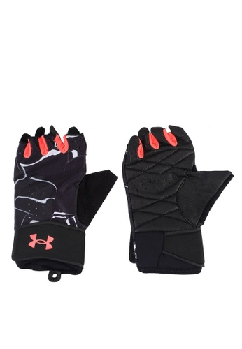 Under Armour black UA Graphic Weightlifting Gloves E3B0DACF8717D2GS_1