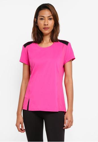 Calvin Klein pink Fabric Mix Short Sleeve Tee - Calvin Klein Performance A442DAAD2E6E5BGS_1