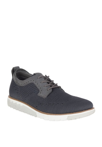 Hush Puppies grey Expert MT Oxford Shoes D60F8SH616F9BDGS_1
