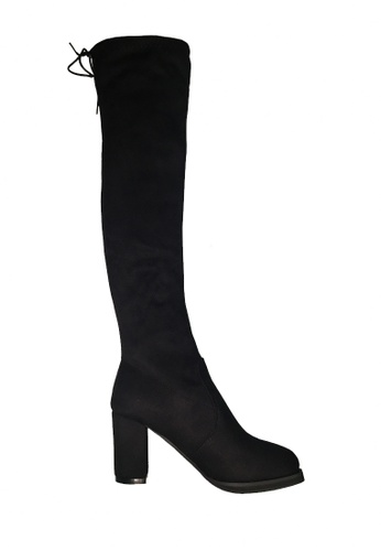 Twenty Eight Shoes black High Block Heel Skinny Over Knee Boot VBA08 5EC36SH38D76A0GS_1