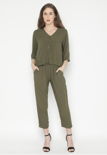 Mannequin green A-line Lounge Set 68883AA7F26BF2GS_1