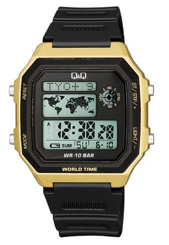 Jual Q Q Q Q Qnq Qq Original Watch Jam Tangan Pria Digital Tali Karet Hitam M196j004y Original Zalora Indonesia