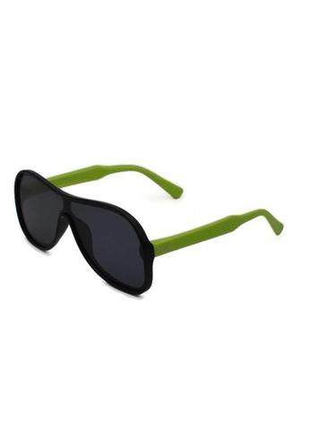jojo green Oversized Shield Aviator Polarized Sunglasses E61D0KCF32FBD5GS_1