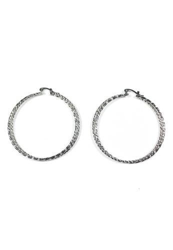 HEY SWEETY silver Sweety Hoop Earrings HE303AC89IRQPH_1