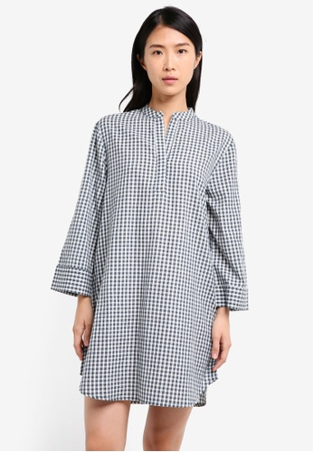 ZALORA blue Oversized Shirt Dress 3BC70AA5080013GS_1