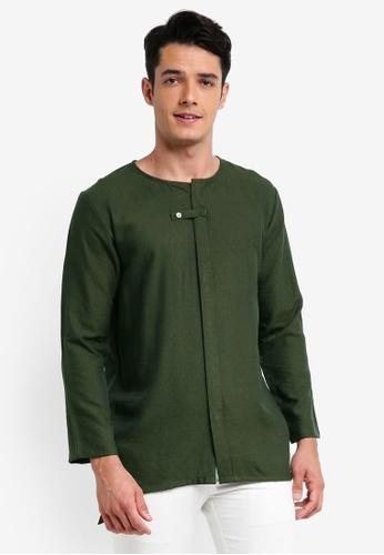 UMMA 綠色 Ammar Kurta上衣 C69B1AA51893FEGS_1