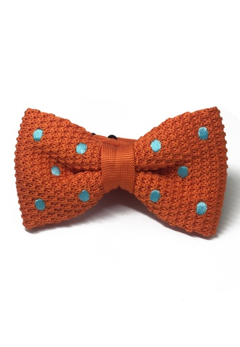 Splice Cufflinks orange Webbed Series Baby Blue Polka Dots Orange Knitted Bow Tie SP744AC03UAUSG_1
