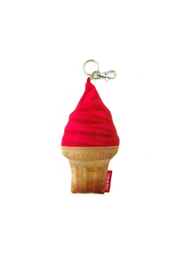 ROY & BIV red Ice Cream Plush Charm RO781AC0KMW3PH_1