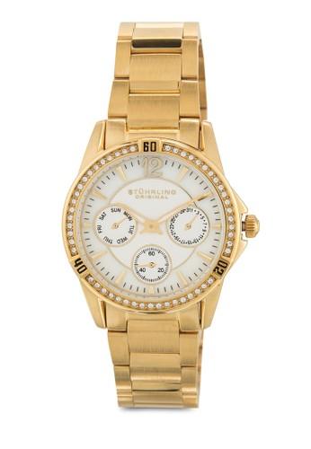 Stuhrling Original 914.01 Marinzalora時尚購物網的koumi koumia 多功能晶鑽女錶, 錶類, 飾品配件